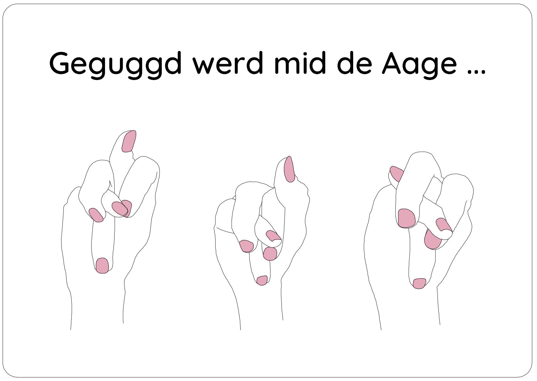 - Loss doi Finger do weg! -