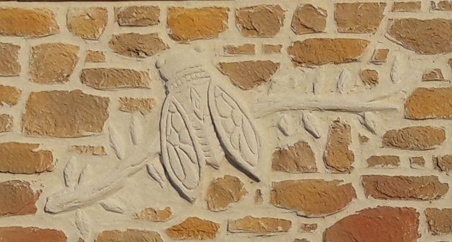 Déco cigale. Saint-Pierre la Mer, Fleury