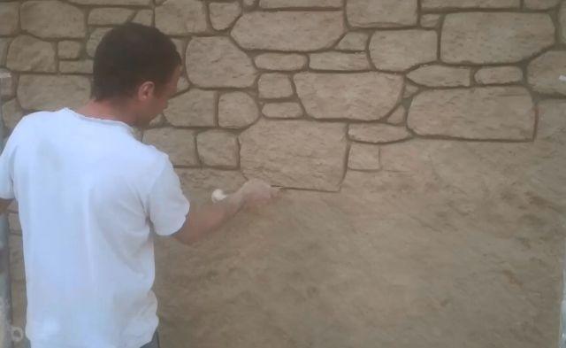 Sculpture enduit pierre