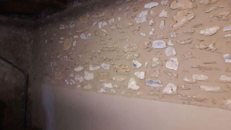 Mur en pierre rénové