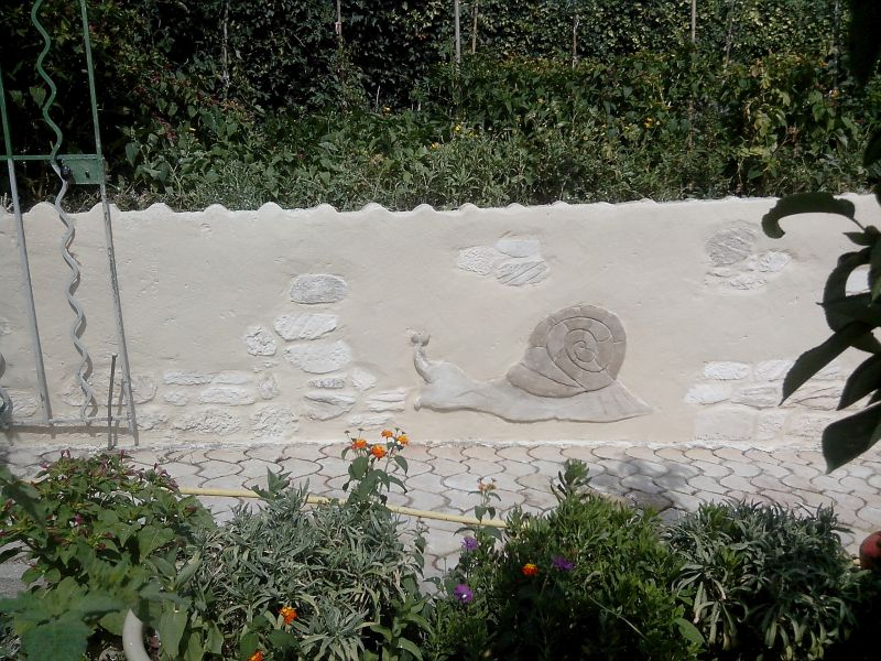 Mur enduit pierre vue et déco