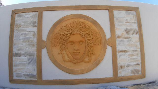 Tableau imitation bronze et décoration médusa