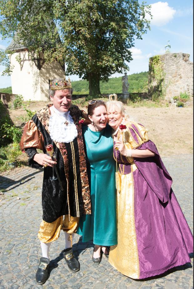 königliche Hochzeit auf dem Schloss