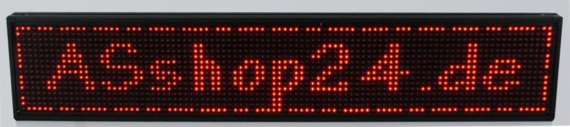 LED-Laufschrift mit Anzeigefläche 96 cm x 16 cm, rot, externes Netzteil