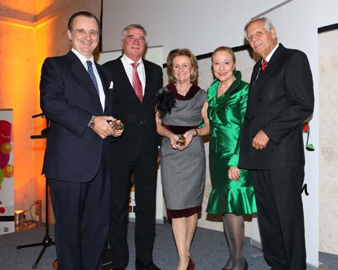 Director General Juan José Zaballa Gómez,  Dr. Harald Svoboda, Dipl. Kfm. Elisabeth Gürtler, Dr. Benita Ferrero-Waldner, S.E. Yago Pico de Coaña