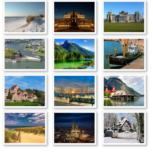 Beispiel: Deutschlandkalender