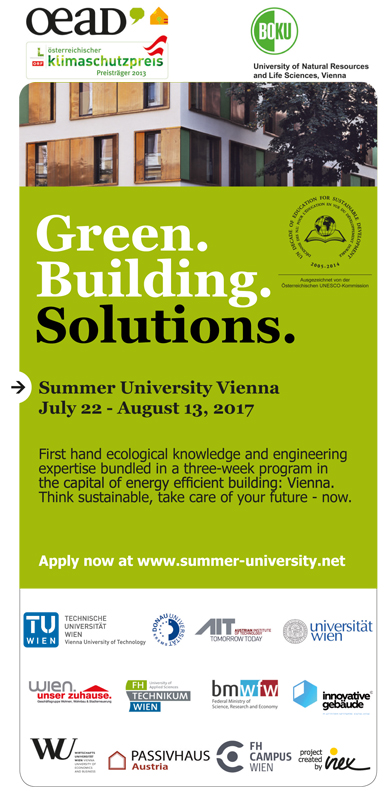 Registration is now open for the two summer schools Alternative Economic  and Monetary Systems (AEMS) and Green.Building.Solutions (GBS). The AEMS  summer ...