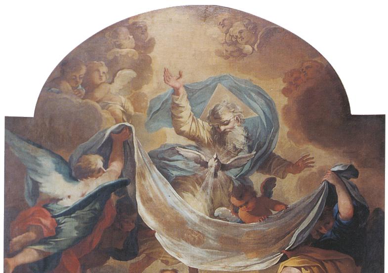 Ancona della chiesa del SS. Sudario, Michele Antonio Milocco, Trinità Sindonica.