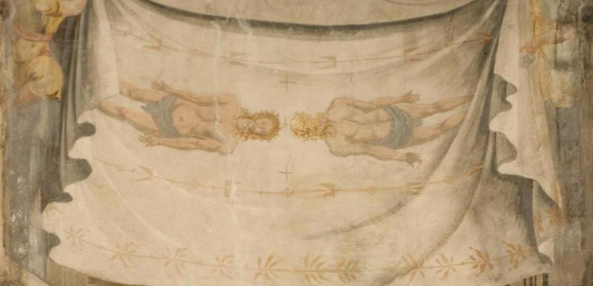Affresco chiesa del SS. Sudario, Michele Antonio Milocco, Sindone, 1735 ca.