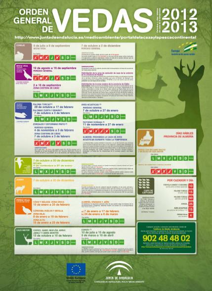 """Cartel ORDEN GENERAL DE VEDAS 2012-2013. - Haz """"clic"""" en la imagen para ampliar."""