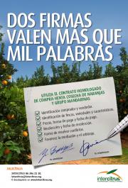 """""""A.C.H."""" - Contrato Homologado por el MARM de Compra-Venta de cosecha de naranjas y grupo mandarinas, a peso, para su comercialización en fresco para la Campaña 2012/2013."""