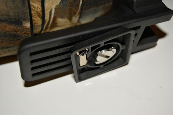 Schnellkupplung Adapterplatte an Sigma 120-400 mm F4,5-5,6 DG OS HSM-Objektiv