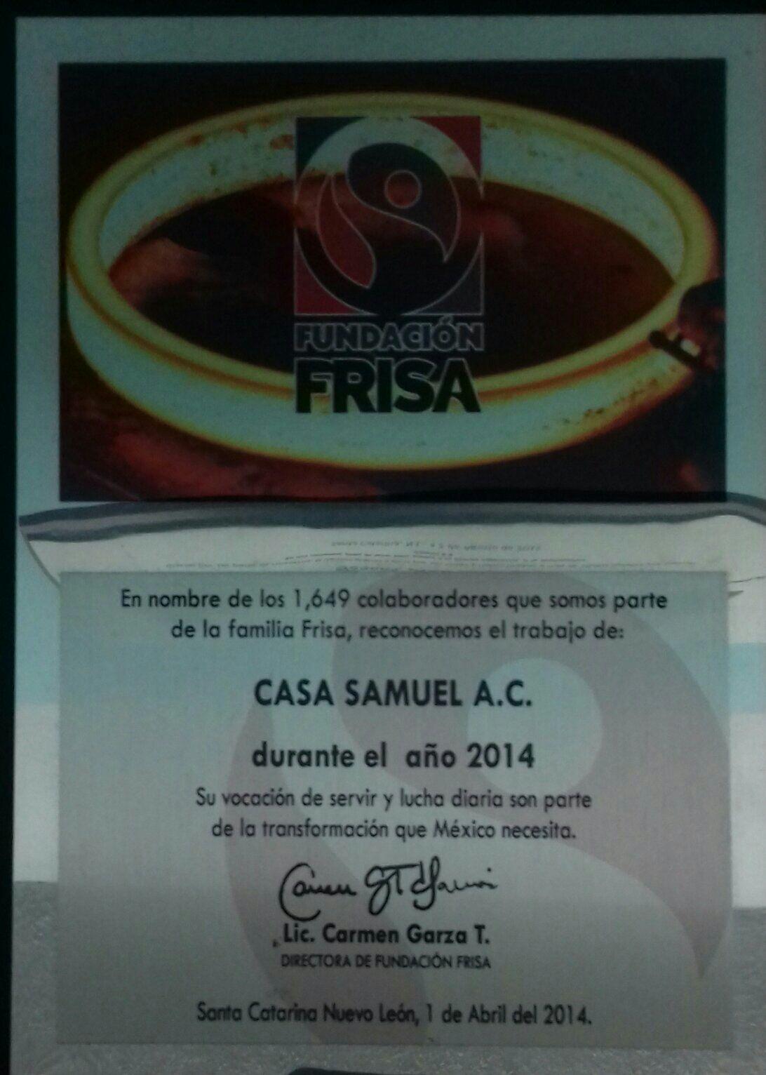 PREMIO VOCACION DE SERVIR FUNDACION FRISA 2014