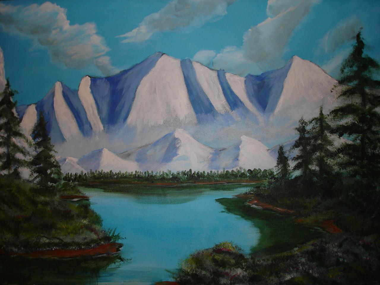 Montagne Acrylique (50x70)