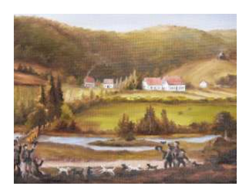 Historische Ansicht des Alten Forstamtes im Teutoburger Wald