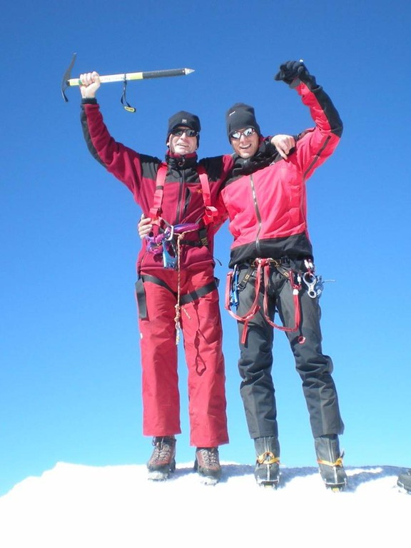 Gipfel Island Peak 6199m mit Karl