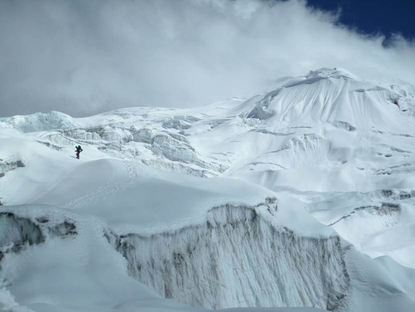 4 x müssen wir durch den Eisbruch um die Lagerkette aufzubauen