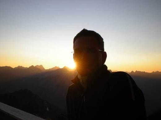 für solche Sonnenuntergänge steige ich gerne in die Berge