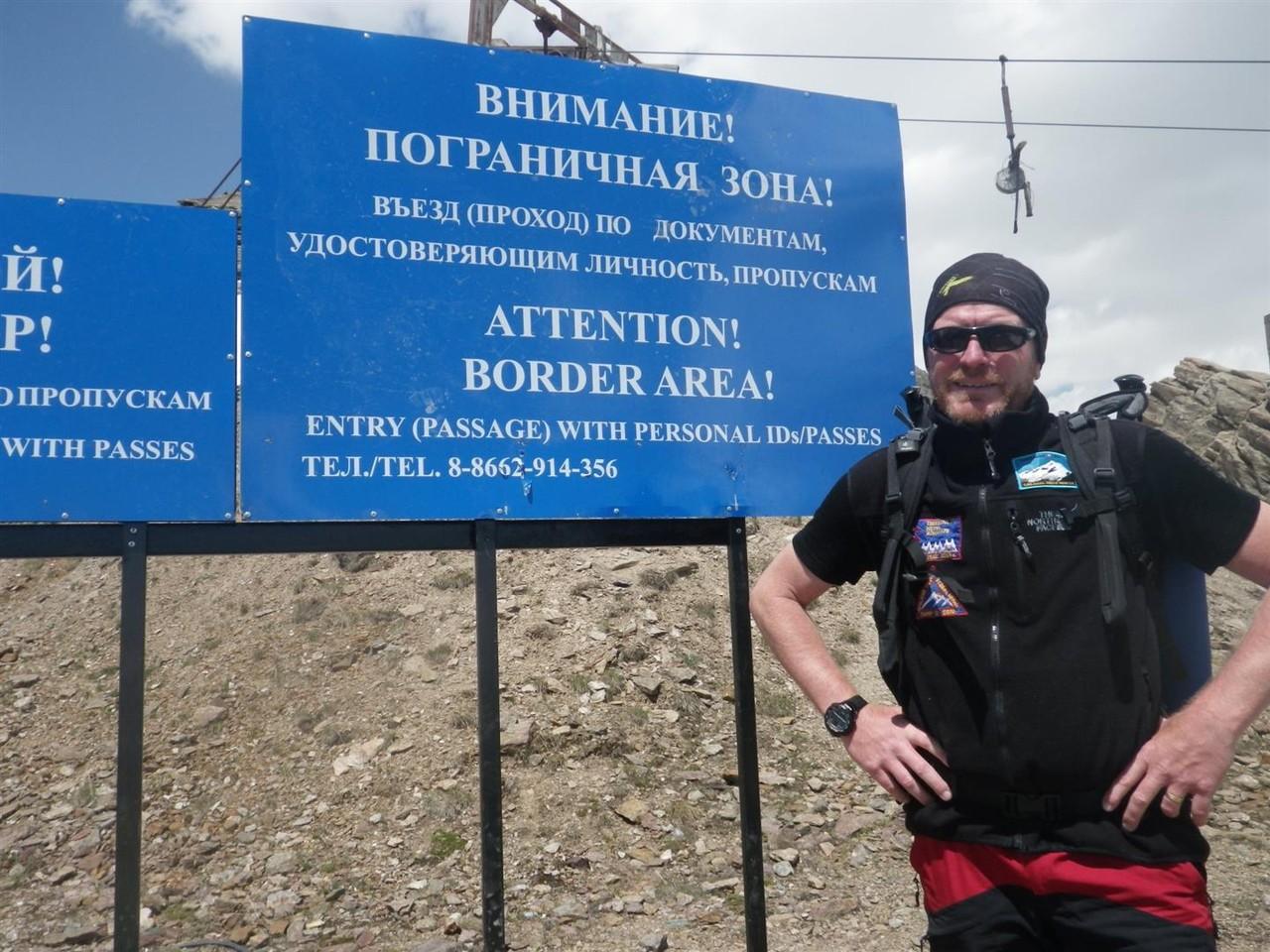 der erste Gipfel wurde uns verwehrt, Russland hat die Grenze zu Georgien geschlossen und der Berg  liegt in der Grenzregion (2Km)
