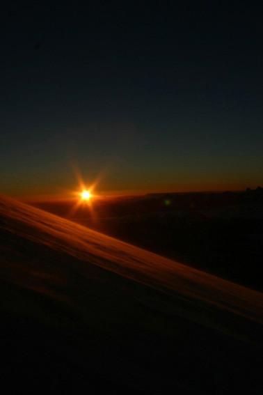ein toller Tag nach einer kalten Nacht (-25°) bricht an