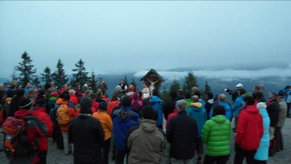 Messe am Hirschkaser um 6 Uhr