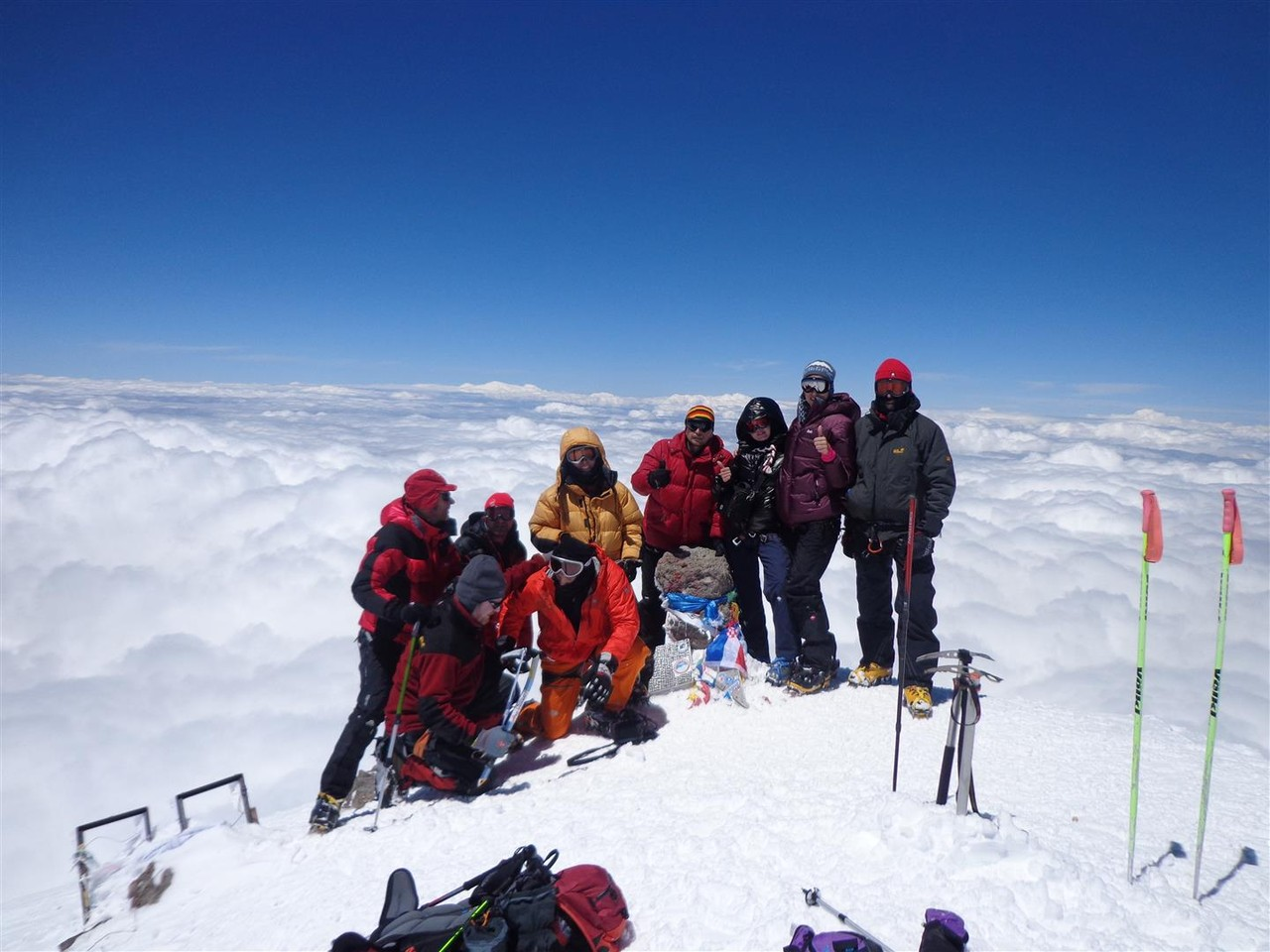 Team am Gipfel 3 Briten, 4 Russen 1 Ukrainer und ich