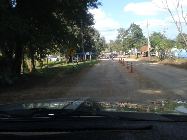 Ausflug mit gemietetem Chevy Pickup - wir wollen nach Burma / Myanmar