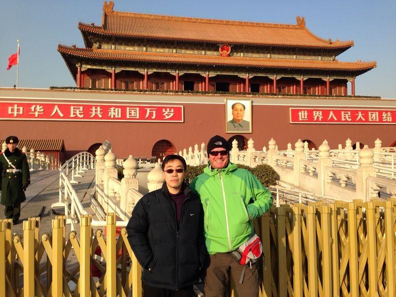 mit Mr. Gao an der verbotenen Stadt