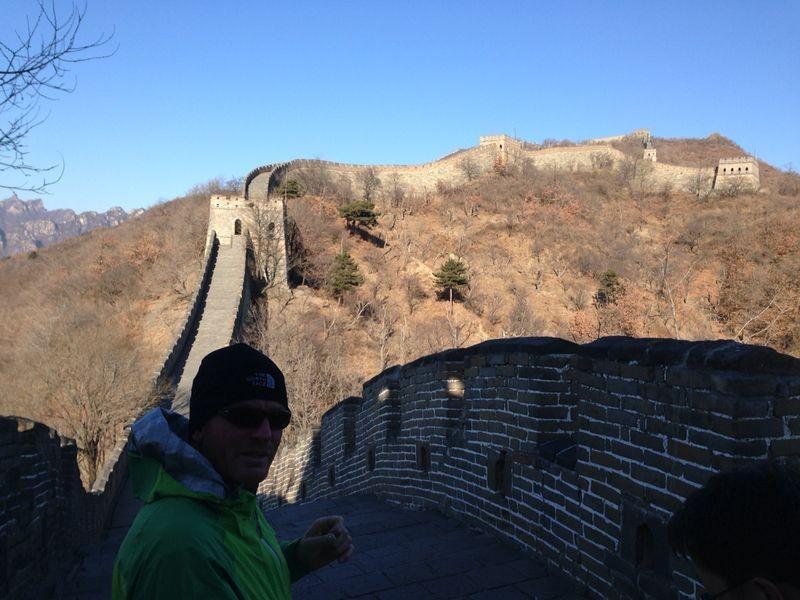 die große Mauer - 2 Std laufen wir ein kleines Stück davon ab
