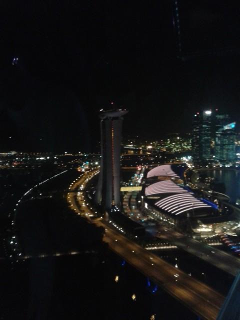 Blick auf Singapur