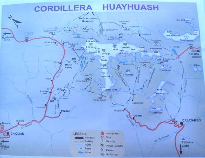Karte der Trekkingtour - immer rechts rum