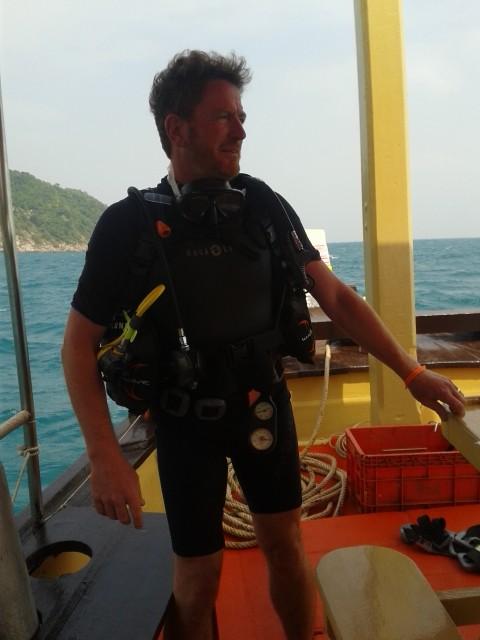 unserer erster Tauchgang von Boot aus