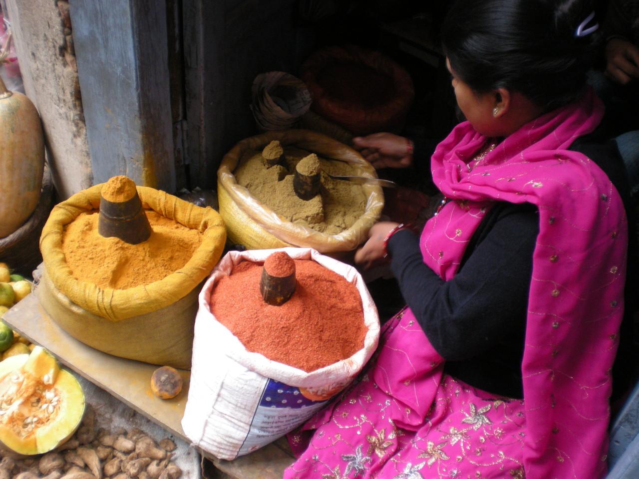 Eindrücke Kathmandu es ist Markttag