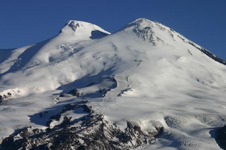 Mt. ELBRUS 5642m, einer der seven Summits, der höchste Berg des europäischen Kontinents