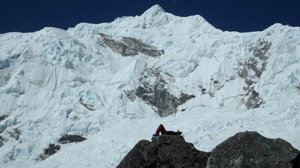 eines meiner Lieblingsbilder (vor dem Chopicalqui 6435m)