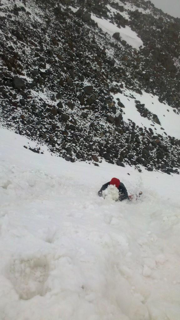 Training an einer 55° Flanke - wie brems ich einen Sturz mit dem Eispickel
