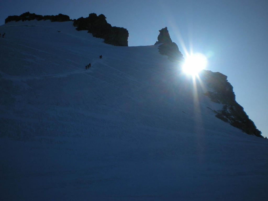 Sonnenaufgang am Gran Paradiso 4061m