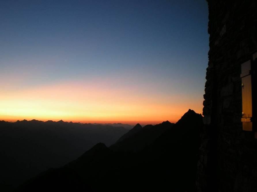 meine Lieblingshütte die Hochstubaihütte 3180m hoch über Sölden