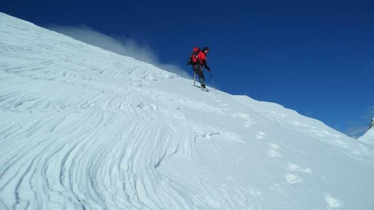 auch in den Alpen muss steil gestiegen werden