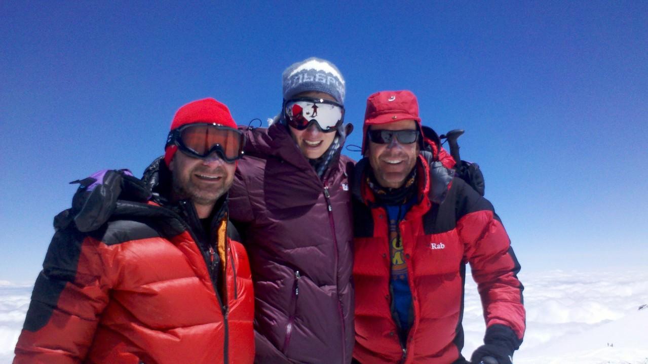 meine britischen Bergkameraden, Barry, Maraja und Rob