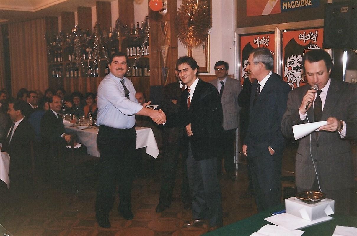 """Alex Zanardi, un socio """"illustre"""", alla festa sociale stagione agonistica 1986"""