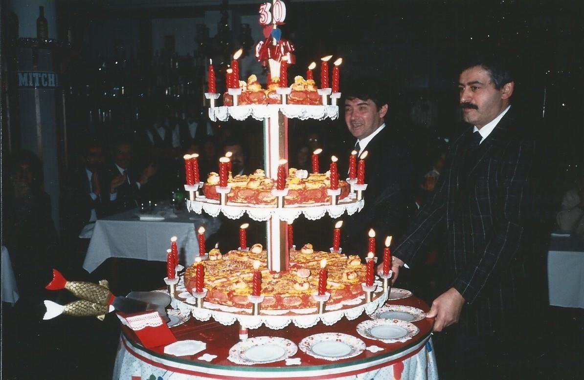 Festa sociale 1991 La torta per i 30 anni della società