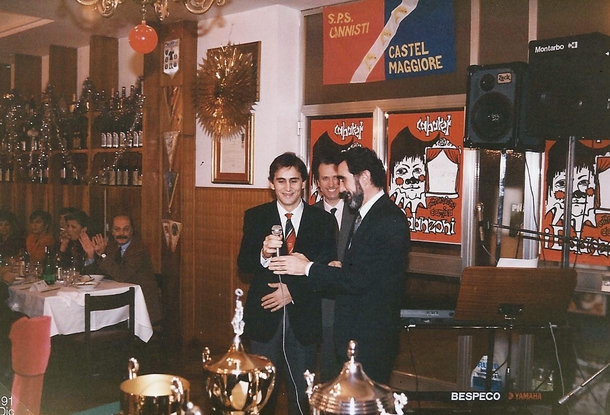 UN GIOVANE ALEX ZANARDI ALLA FESTA SOCIALE I986