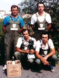 1986 Squadra vincitrice Qualificazione all'Eccellenza Zonale B  : Franchini Fiorenzo, Zucchini Luigi, Sgargi Andrea, Tarterini Umberto.
