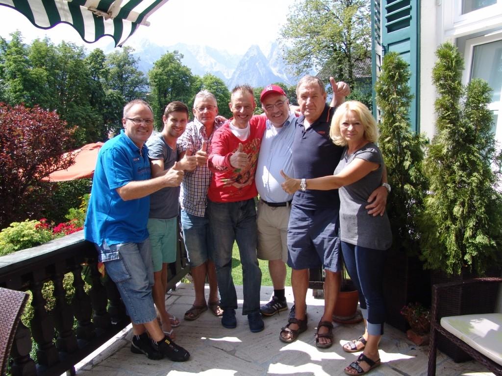 Wilfried Schwarz, Simon Hanle , Andi Kohler, Ich , Bernhard Klose und Paul&Jenny Grathwohl