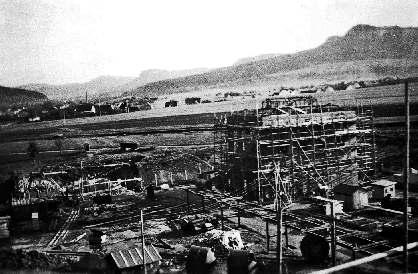 Bau des Kesselhauses, 1944