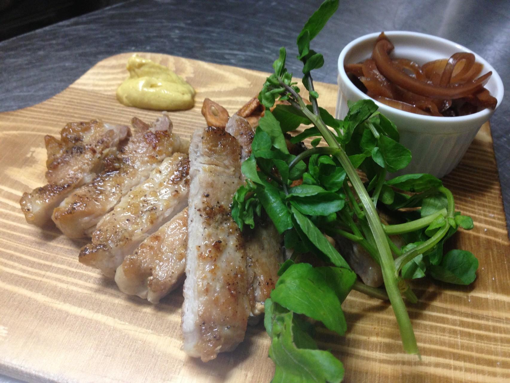 豚ロースのガーリックステーキ