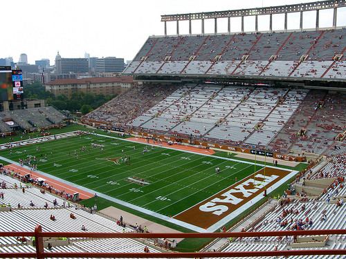 Football stadium in Austin