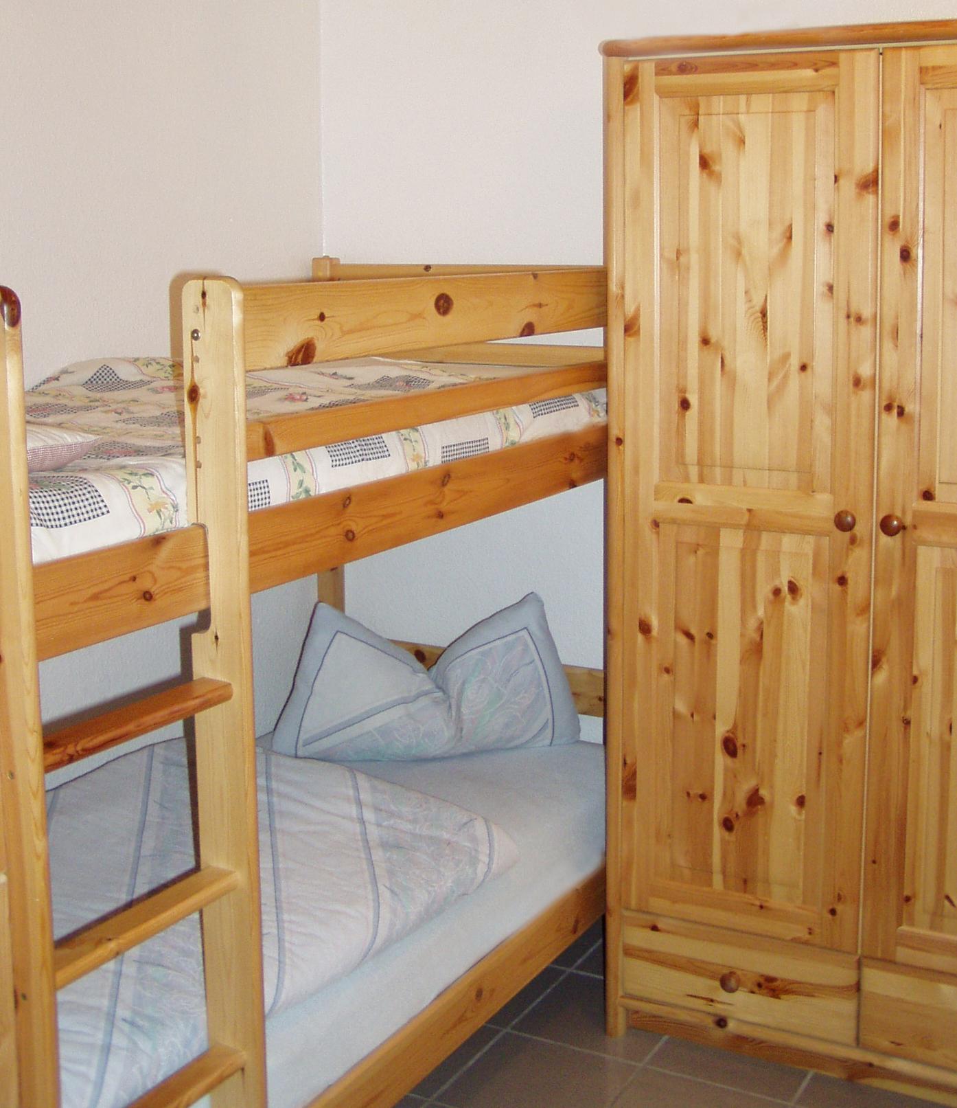 Schlafzimmer Nummer 2 mit Hochbett