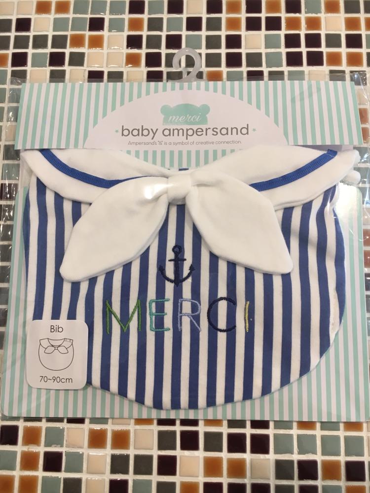 baby ampersand               セーラーカラースタイ(H143047)         (size 70〜90㎝)             ¥1.500+税
